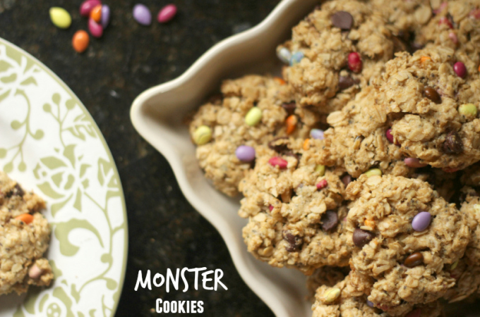 Dairy-Free, Egg-free, Gluten-free Monster Cookies