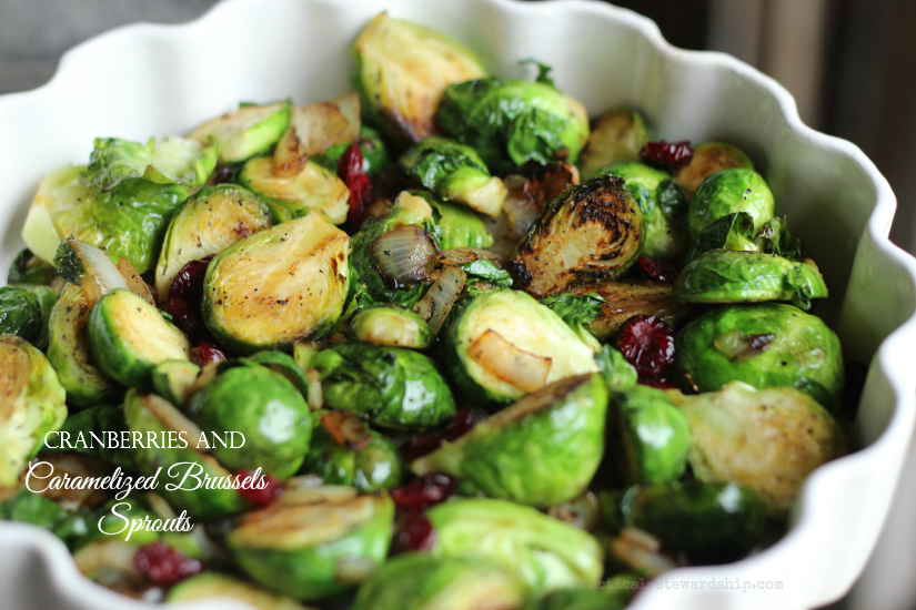 Cranberries and Caramelized Brussels Sprouts - Practical Stewardship