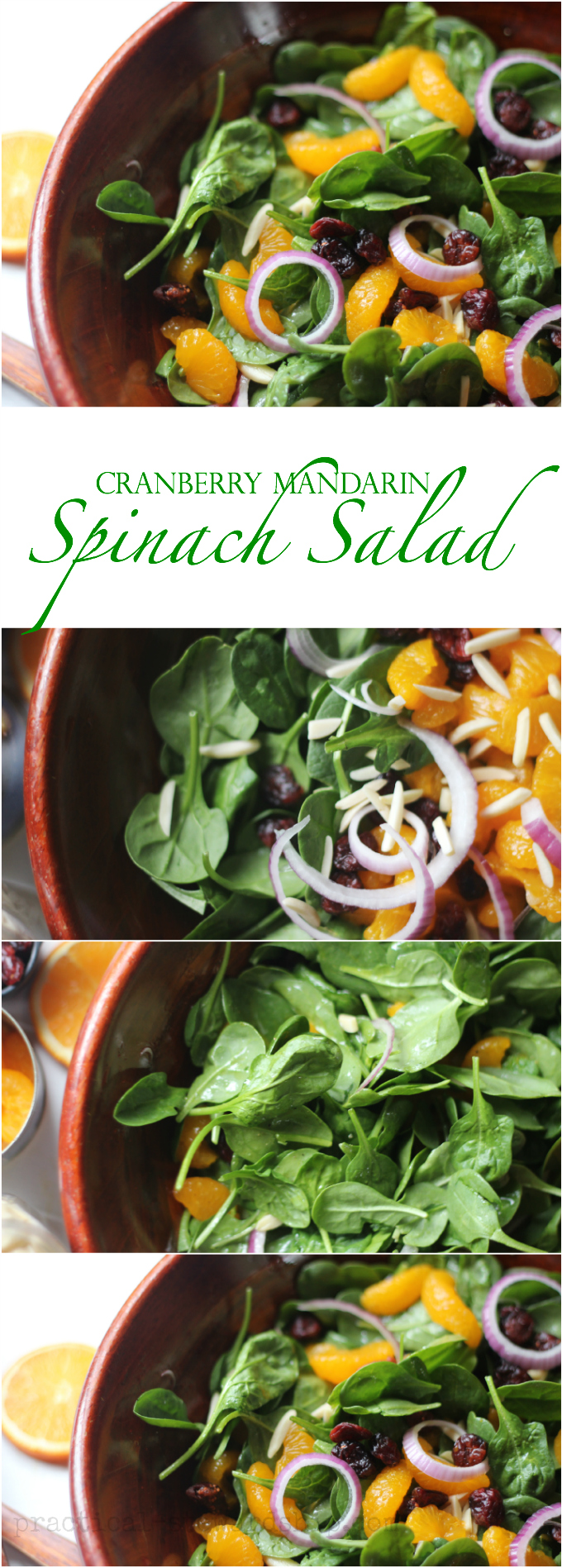 Cranberry Mandarin Spinach Salad Collage