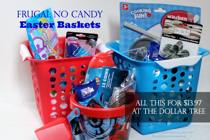 Frugal No Candy Easter Baskets