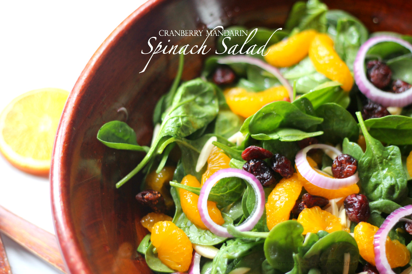 Cranberry Mandarin Spinach Salad