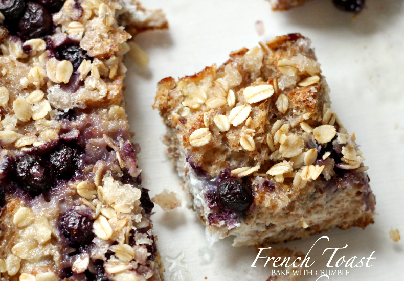 French Toast Bake with Crumble