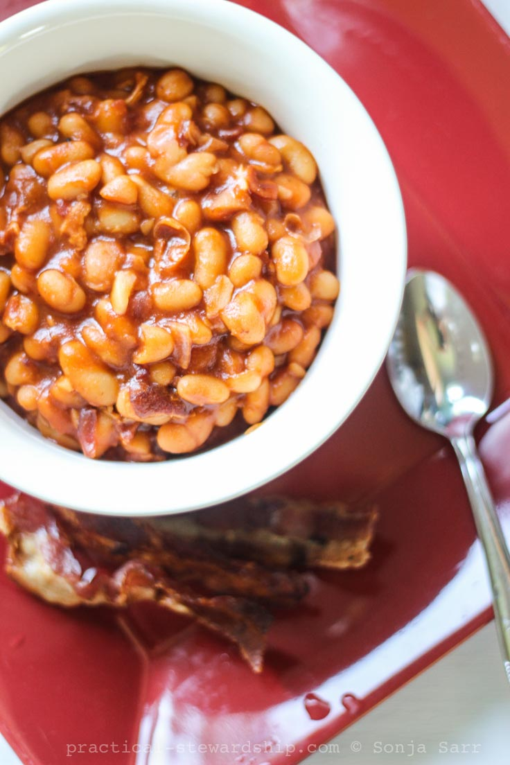 Almost Homemade Crock-pot Baked Beans-3
