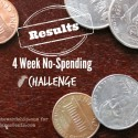 4 Week No-Spending Challenge Results