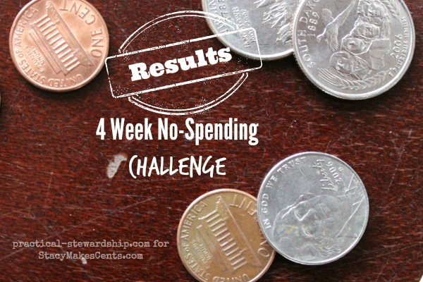 4 Week No-Spending Challenge Update #3