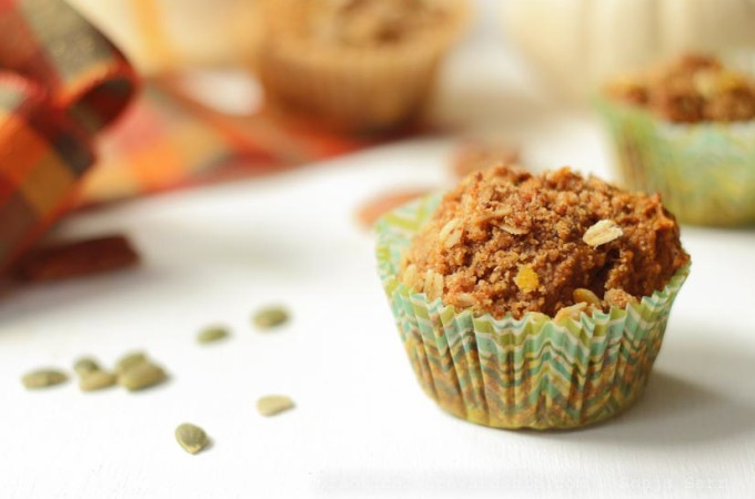 Pumpkin Banana Crumb Breakfast Muffins