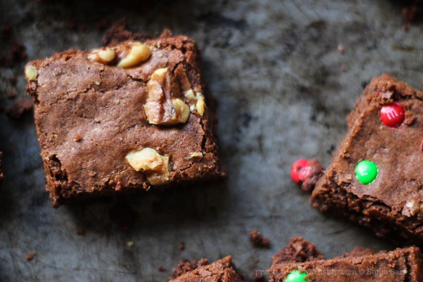 Dairy-free Dark Chocolate Brownies-4