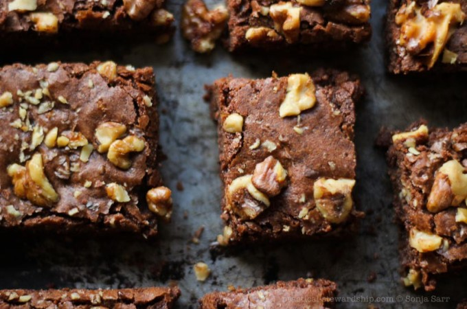 Dairy-free Dark Chocolate Brownies, Vegan, Gluten-free Option