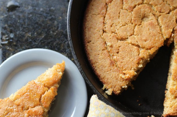 Dairy-free Skillet Corn Bread
