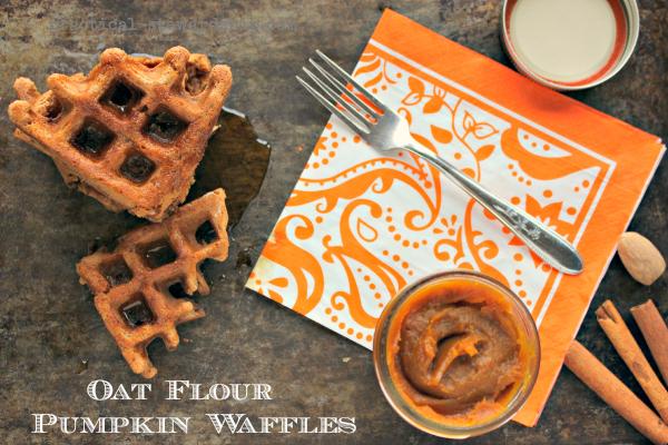 Easy Oat Flour Pumpkin Waffles