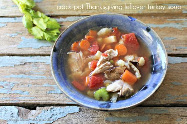 crock-pot Thanksgiving leftover turkey soup