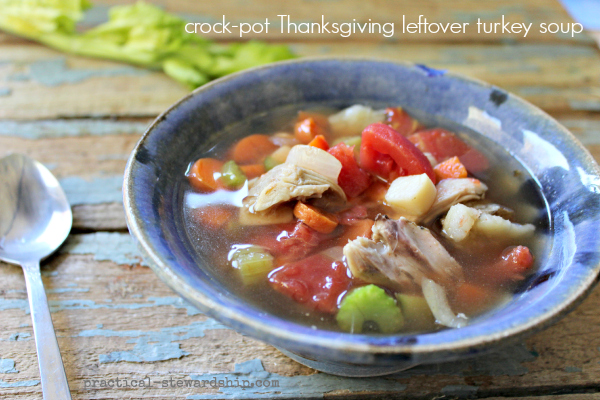 Easy Crock-Pot Turkey Soup Recipe - Practical Stewardship
