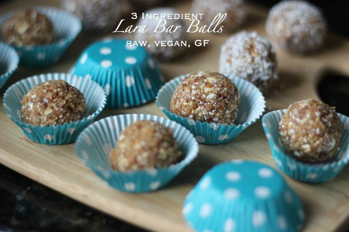 3 Ingredient Lara Bar Balls raw, vegan, GF