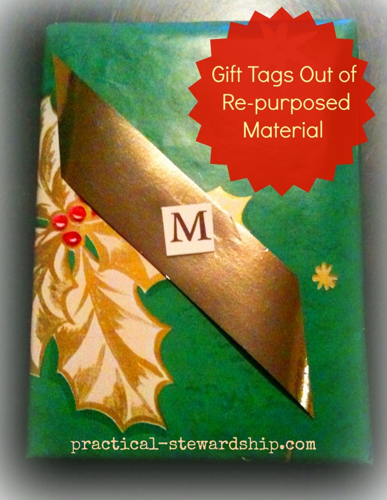 Gift Tags Out of RE-purposed Material @ practical-stewardship.com