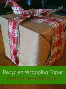Recycled Wrapping Paper @ practical-stewardship.com