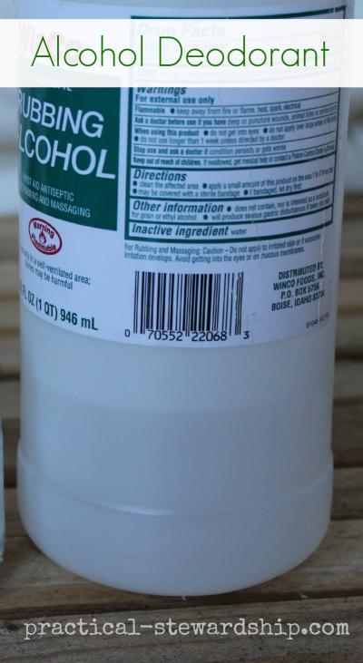 ALCOHOL Deodorant