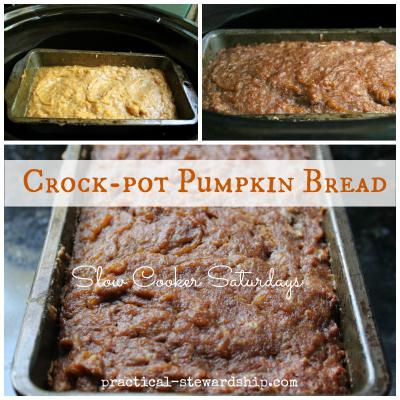 Crock-pot Pumpkin Bread Collage