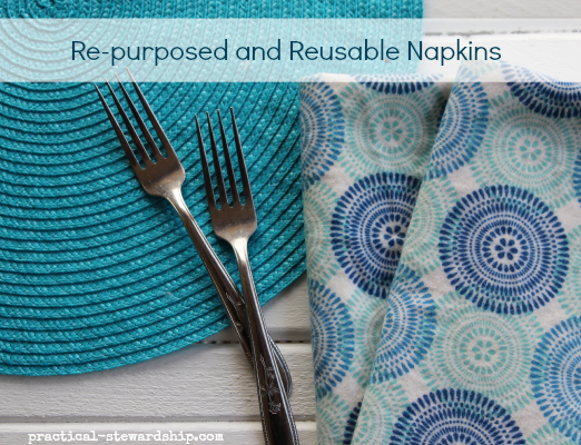 Re-purposed and Reusable Napkins