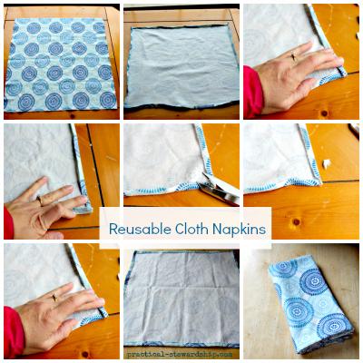 Reusable Cloth Napkin Collage