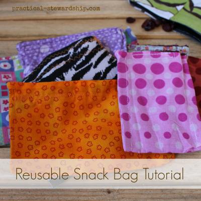 Reusable Snack Bag Tutorial Repurposed