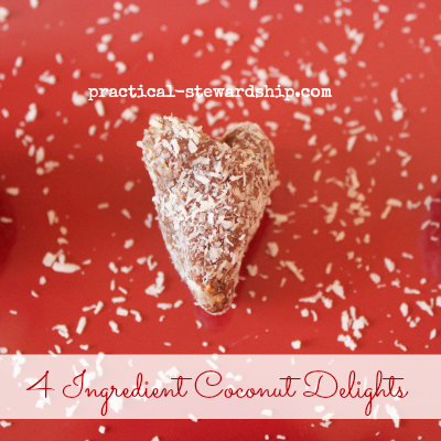 4 Ingredient Coconut Delights with Dates