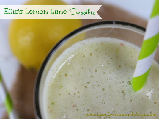 Ellie's Lemon Lime Smoothie