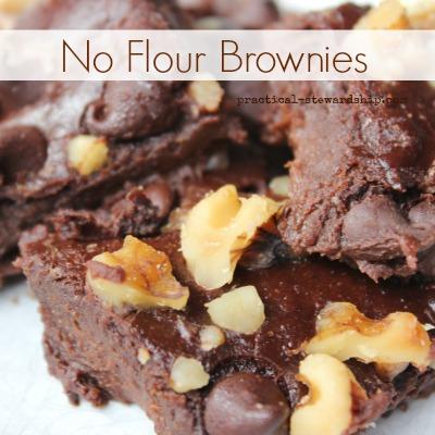 No Flour Black Bean Brownies
