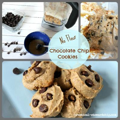 No Flour Chocolate Chip Blender Cookies, Grain-Free, Gluten-Free
