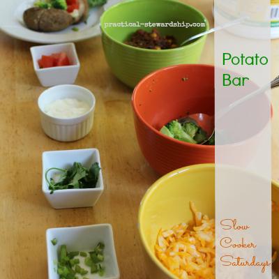 Potato Bar Slow Cooker Saturdays