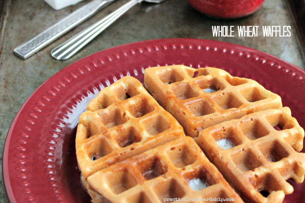 Whole Wheat Waffles with Butter