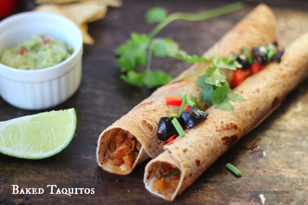 Baked Skinny Taquitos