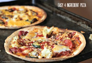 Easy 4 Ingredient Pizza