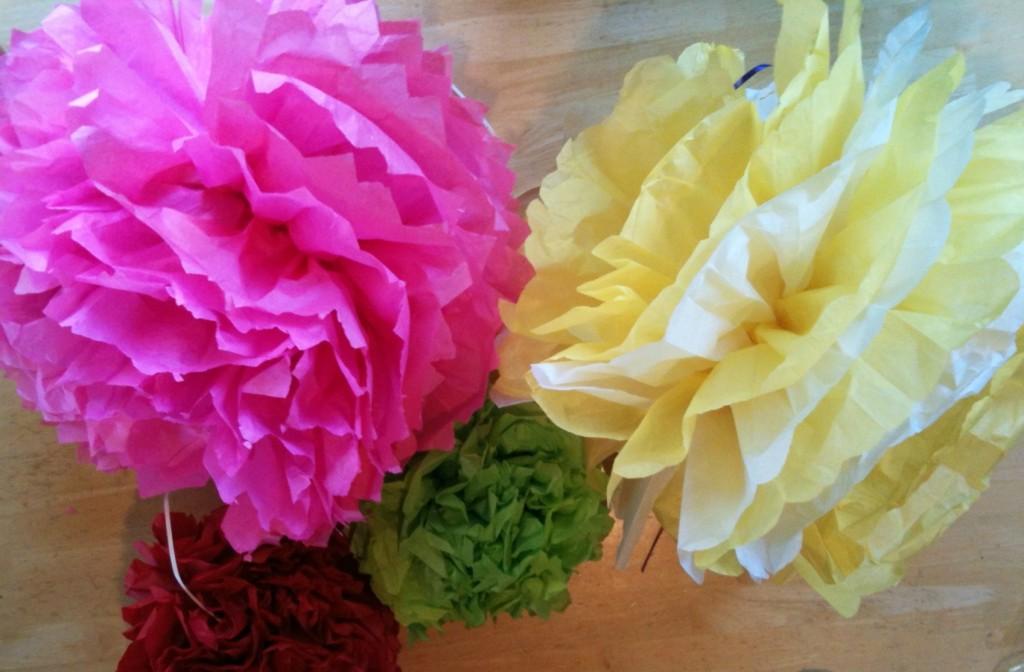 Diy tissue pom pom decoration tutorial practical stewardship this mightylinksfo
