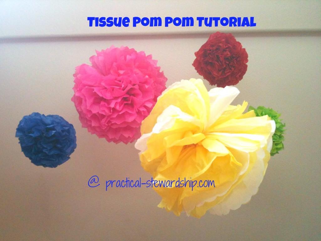 Diy Tissue Pom Pom Decoration Tutorial Practical Stewardship