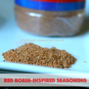 Homemade Red Robin Inspired Seasoning
