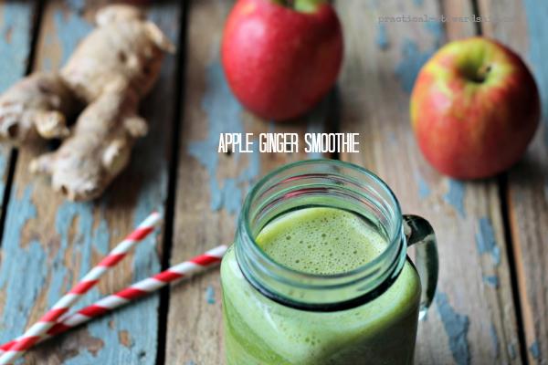 Apple Ginger Smoothie, Vegan