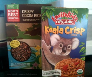 Chocolate Crispy Treats Cereal Box
