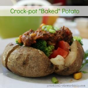 Crock-pot Baked Potato