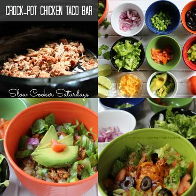 Crock-pot Chicken Taco Bar