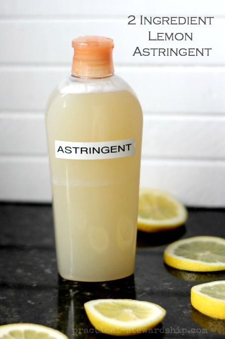2 Ingredient Lemon Astringent