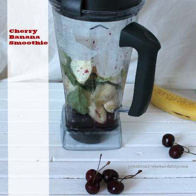 Cherry Banana Smoothie in the Vitamix
