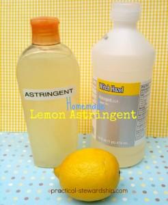 Homemade Lemon Astringent