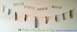 father's day banner and sign