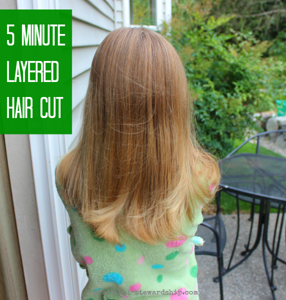 My easy diy 5 minute layered haircut practical stewardship diy 5 minute layered hair cut solutioingenieria
