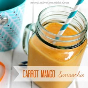 Carrot Mango Smoothie, V
