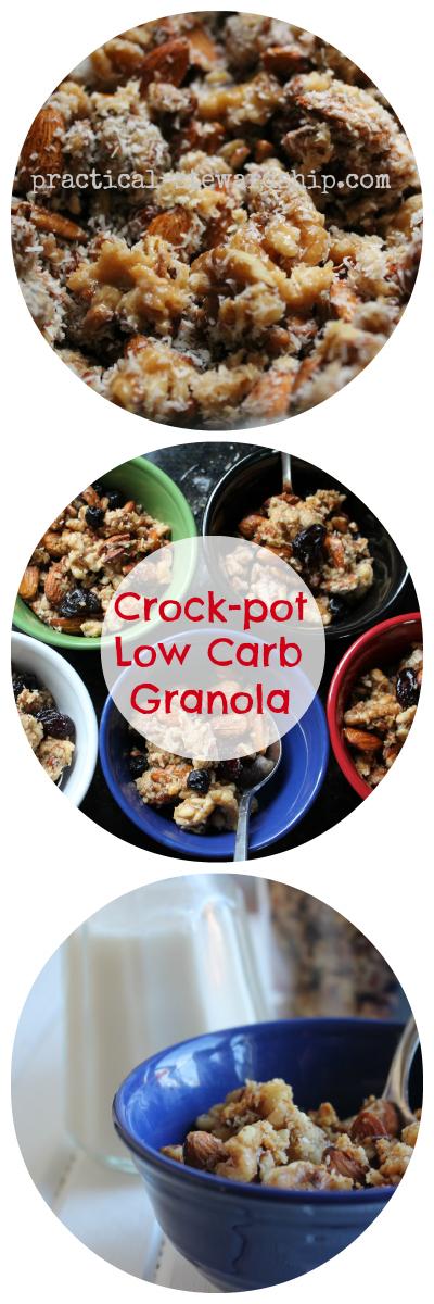 Crock-pot Low Carb Peanut Butter Granola Collage