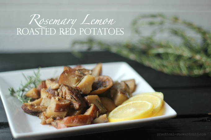 Rosemary Lemon Roasted Red Potatoes