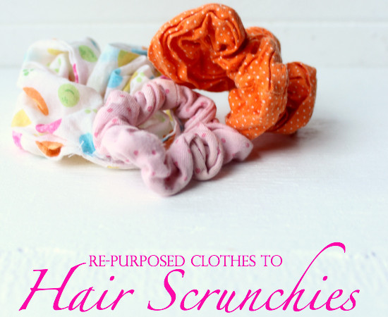 Re-purposed Clothes to Scrunchies Tutorial