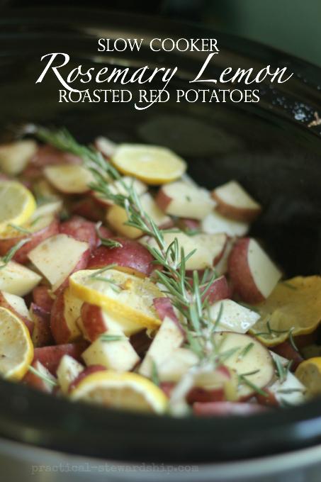 Slow Cooker Rosemary Lemon Roasted Red Potatoes