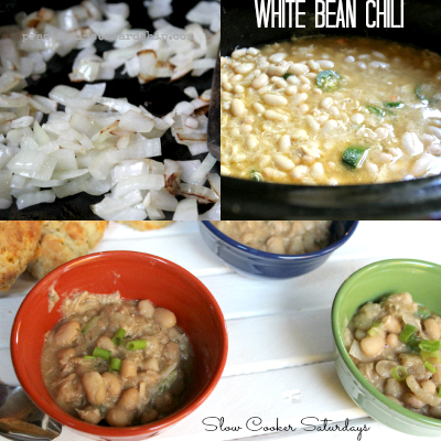 White Bean Chili Collage